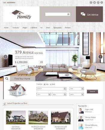 Responsive Real Estate Theme Joomla