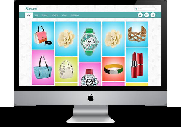 Descktop Layout for Pinterest Clone Joomla Virtuemart Theme