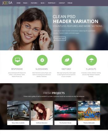 Responsive Multipurpose Joosa Wordpress Theme