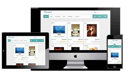 Responsive pinmart Template for Pinterest Clone Joomla Virtuemart Template