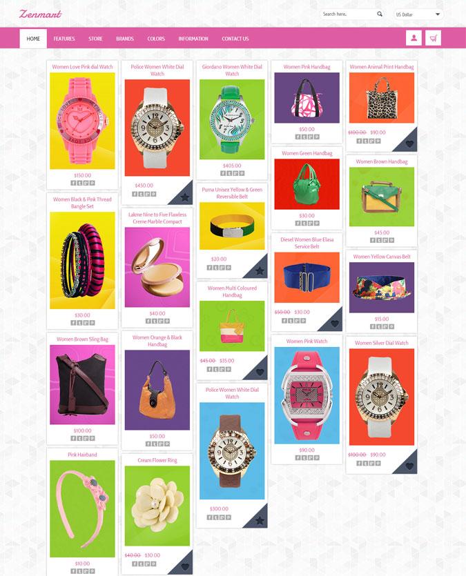 Responsive Pinterest Clone Zencart Theme