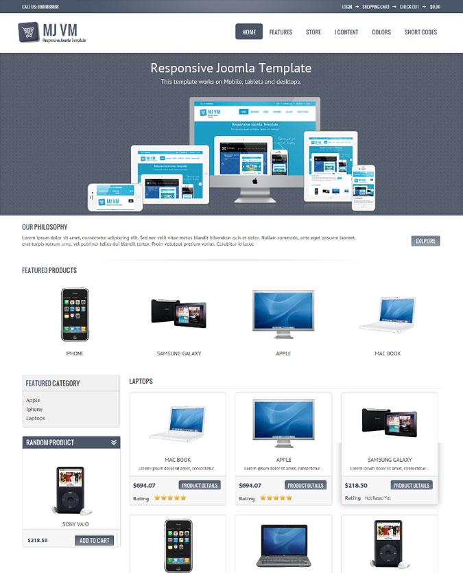 Mobile Ready Virtuemart MJ VM site