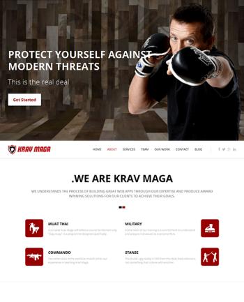Responsive Krav Maga Template Joomla