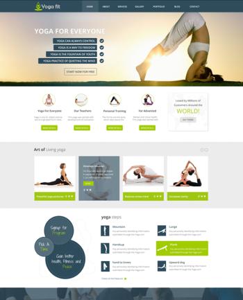 Responsive Yoga Template Joomla