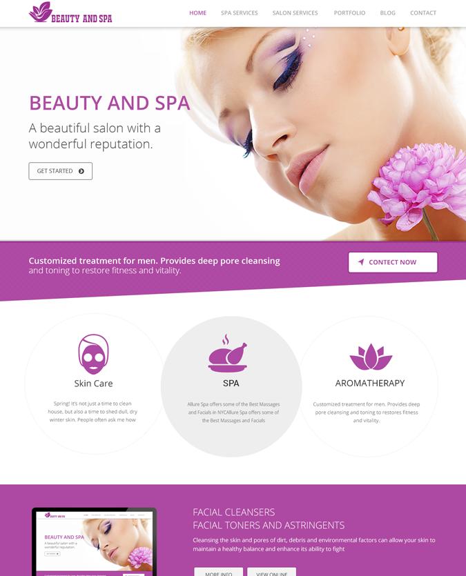 Responsive Beauty and spa Template Joomla